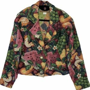 Painted Pony summer fruit tapestry jacket